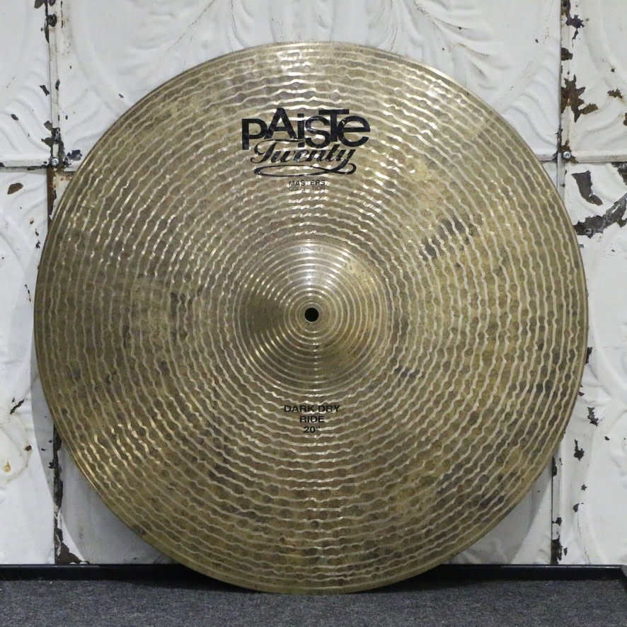 Paiste Used Paiste Masters Dark Dry Ride Cymbal 20in (2490g)