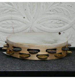 Ron Vaughn Ron VaughnTambourine in Maple with Goatskin German Silver and Brass Jingles 10in