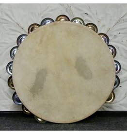 Ron Vaughn Ron Vaughn Secco Classic Poplar/Silver Calfskin Tambourine 10in