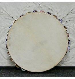 Ron Vaughn Ron Vaughn Poplar/Silver Calfskin Tambourine 10in