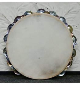 Ron Vaughn Ron Vaughn FireBird Maple/Silver Calfskin Tambourine 10in