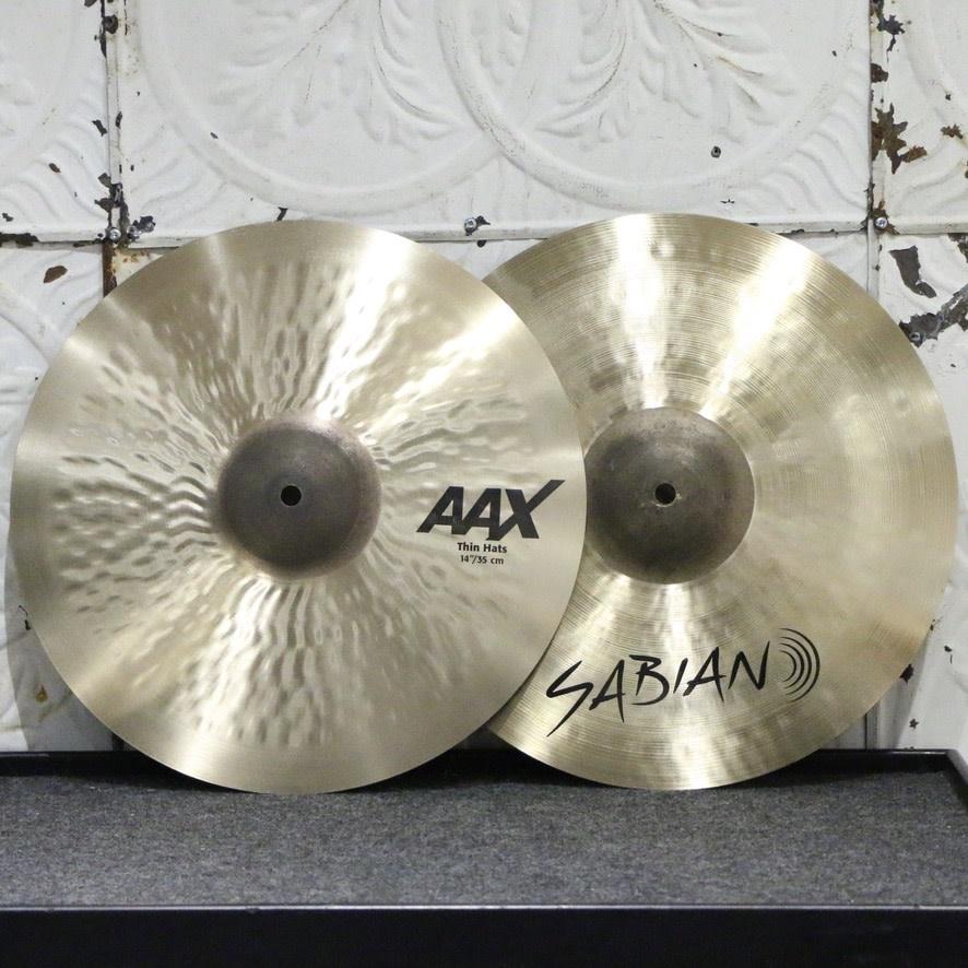 Sabian  Sabian AAX Thin Hi-hat Cymbals 14in (896/1104g)
