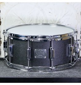 Asba ASBA Simone Studio Snare Drum 14X6.5in - Black Vintage Amp Coating