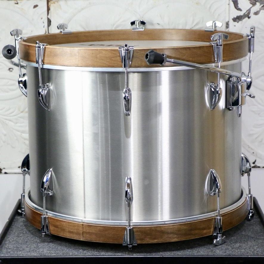 Asba ASBA Metal Drum Kit 20-13-16in  - Brushed Stainless Steel