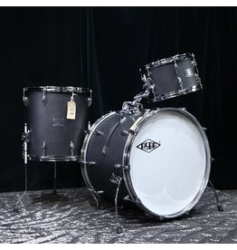 Asba ASBA Super Simone Studio Drum Kit 22-12-16in - Black Vintage Amp Coating
