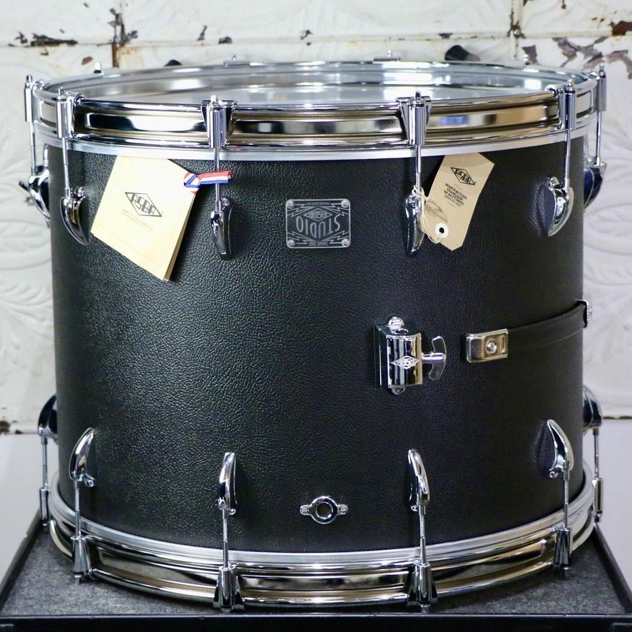 Asba ASBA Super Simone Studio Drum Kit 22-12-16in - Black Vintage Amp Coating