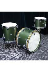 C&C Drum Company C&C Maple/Gum Drum Kit 22-13-16in - Dark Olive Metallic
