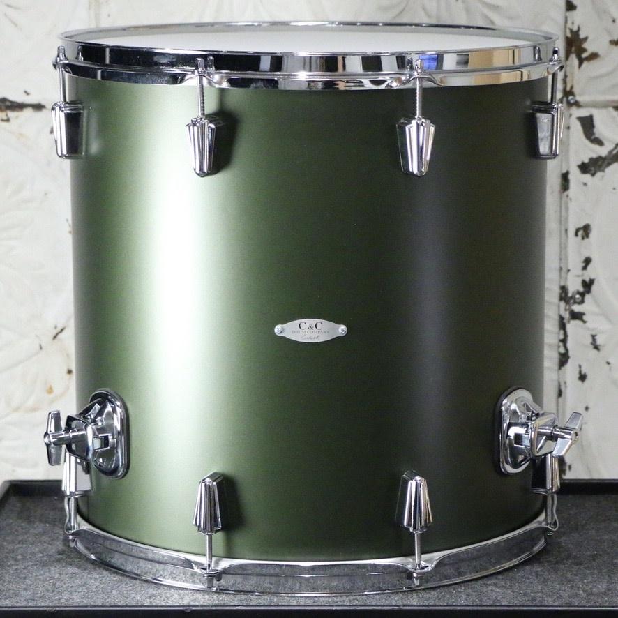 C&C Drum Company C&C Maplegum Drum Kit 22-13-16in - Dark Olive Metallic