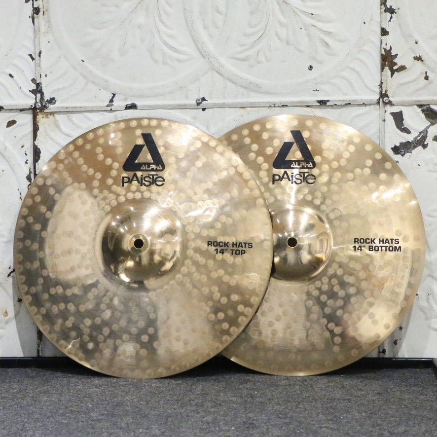 Paiste Used Paiste Alpha Rock Hi-Hats 14in (950/1316g)