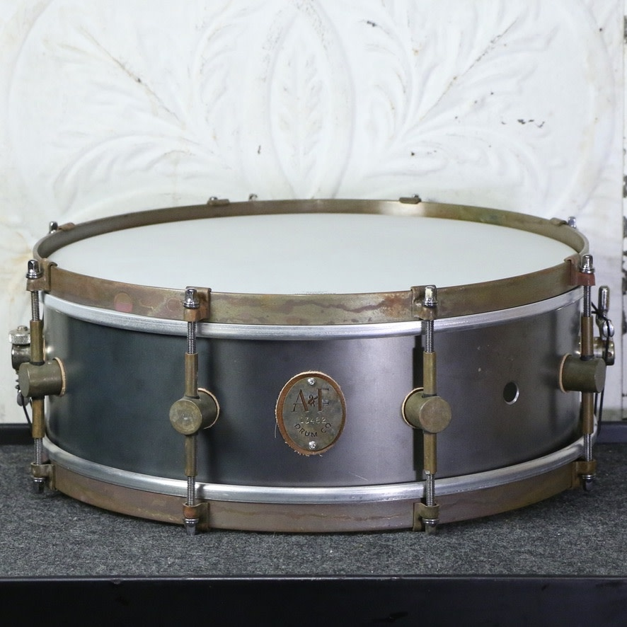 A&F Drum Co A&F Raw Steel Snare Drum 14X5in