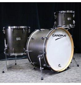 Canopus Canopus Yaiba Birch Drum Kit 24-13-16in - Antique Ebony Matt Lacquer