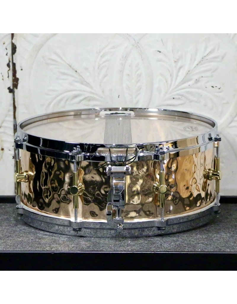Canopus Canopus Hammered Bronze Snare Drum 14X5.5in - Die-cast