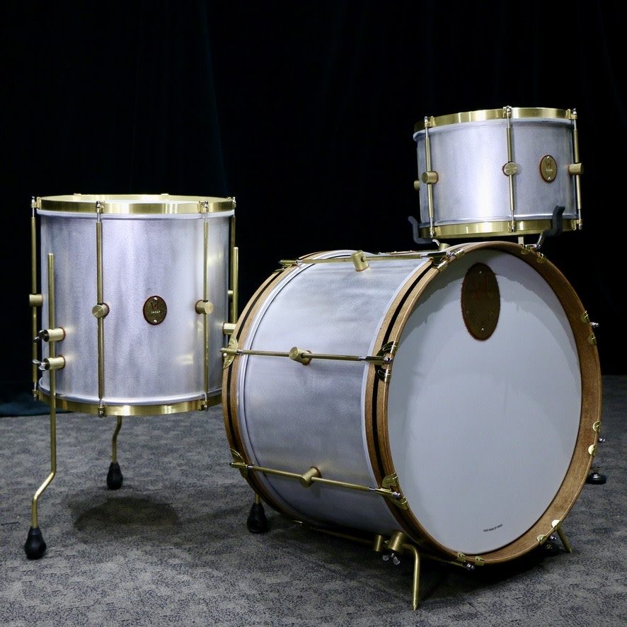 A&F Drum Co A&F Raw Aluminum Drum Kit 20-12-14in