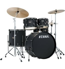 """Tama TAMA Imperialstar 5-piece complete kit with 22"""" bass drum Blacked Out Black"""