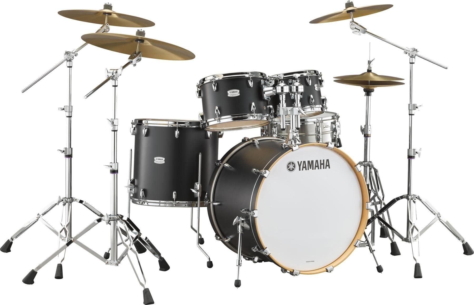 Yamaha Yamaha Tour Custom Drum Kit 20-10-12-14 + HW780 - Licorice Satin