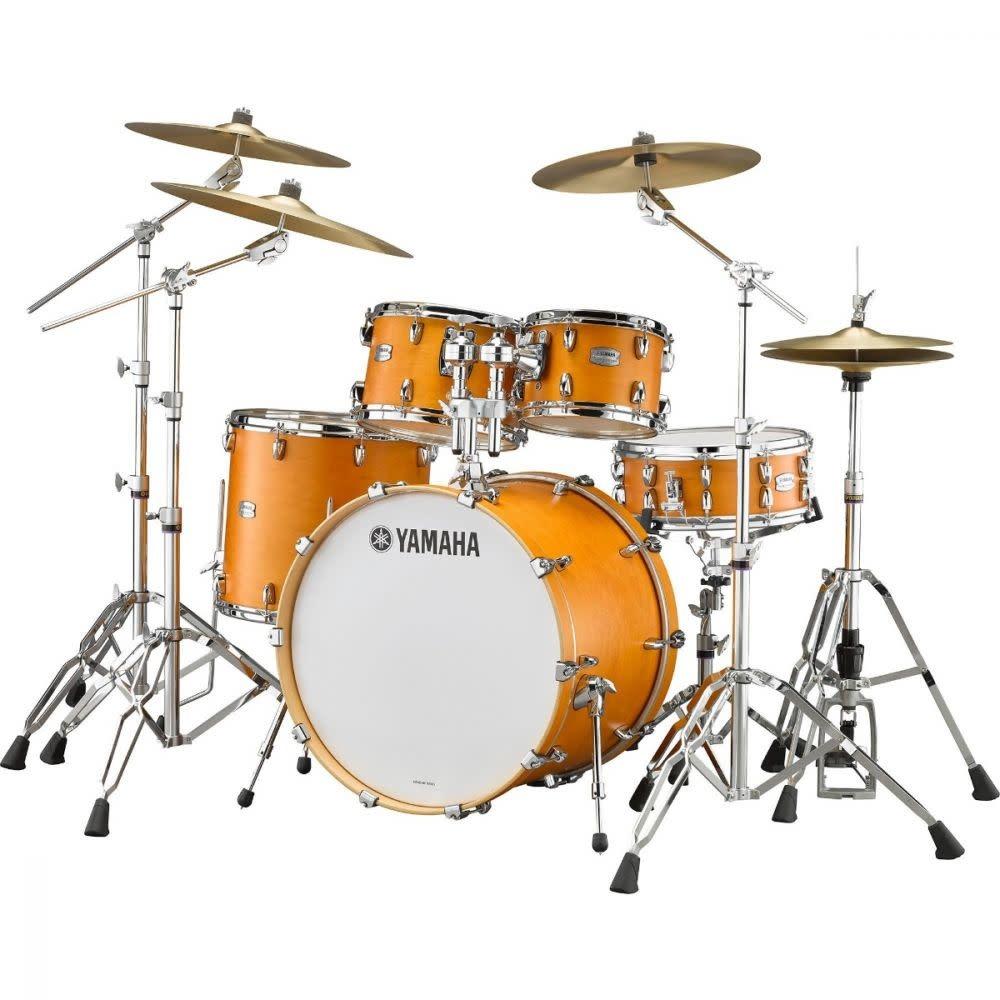 Yamaha Yamaha Tour Custom Drum Kit 22-10-12-16 + HW780 - Caramel Satin