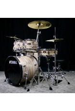 Tama Tama Imperialstar Drum Kit 20-10-12-14in + snare 14po with hardware and cymbals - Natural Zebrawood Wrap