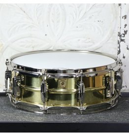 Ludwig Used Ludwig Super Brass LB401 reissue Snare Drum 5X14in