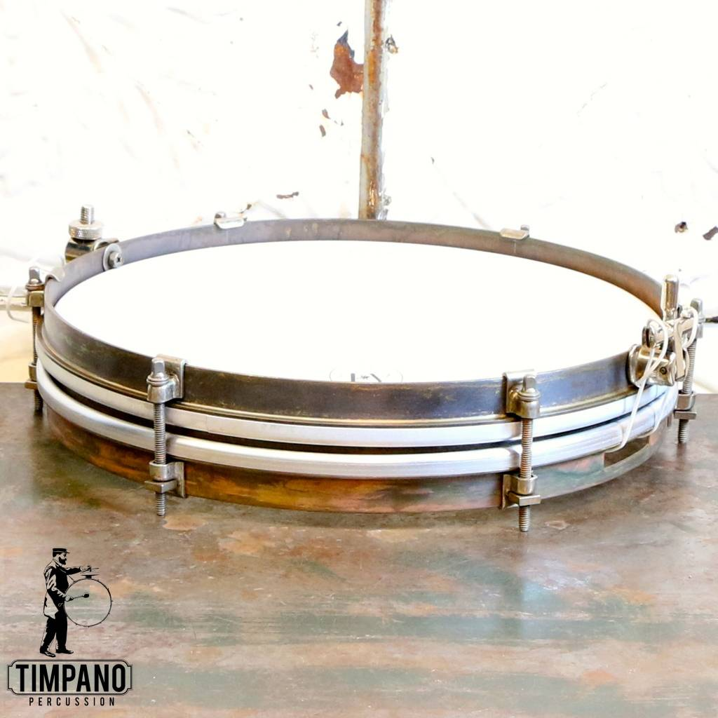 A&F Drum Co A&F Pancake Brass Snare Drum 12X1.5in