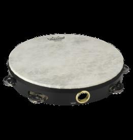 Remo Remo Quadura Tambourine 1 row 10in - black