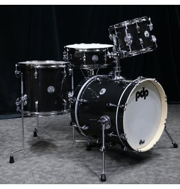 Pacific PDP New Yorker Drums in Black Onyx Sparkle - 14x16, 8x10, 12x13, 5x14