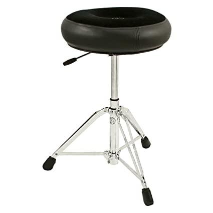 Roc-N-Soc Roc-N-Soc Round Manual Drum Throne - Black