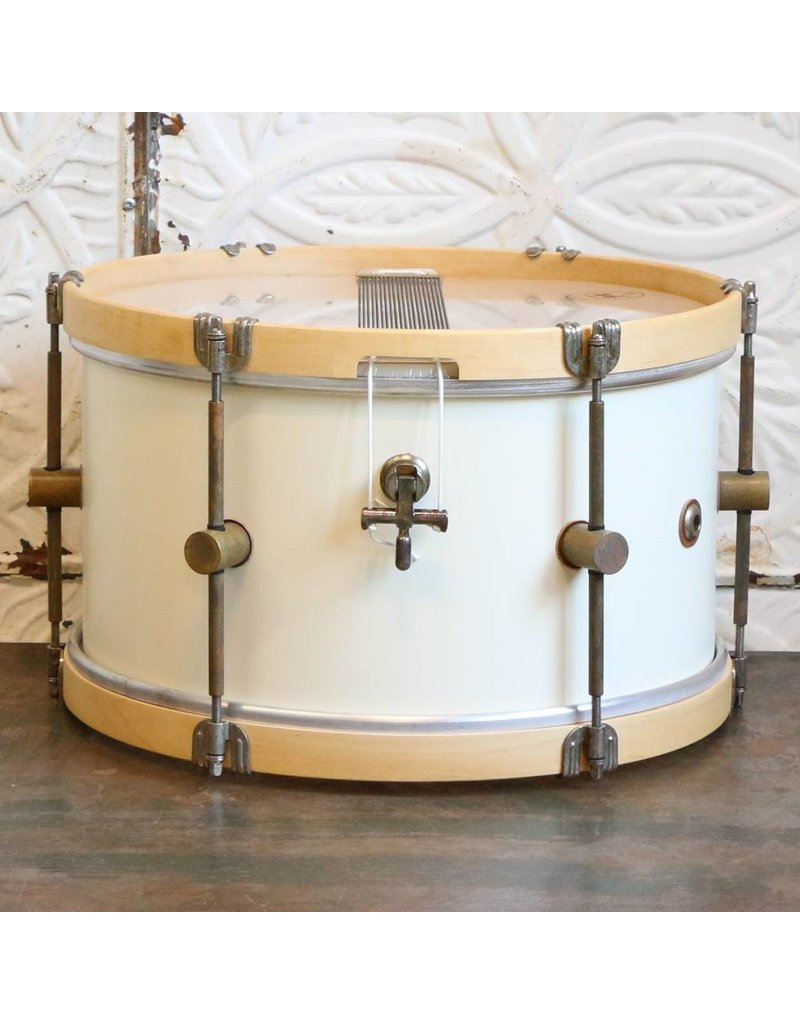 A&F Drum Co A&F Field Maple Antique White Snare Drum 14X8in