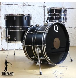 Q Drum Company Q Drum Maple Satin Black/Chrome Drum Kit 22-12-16in