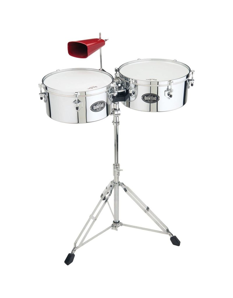 """Gon Bops Gon Bops Tumbao Series 14"""" & 15"""" Chrome with Stand & Cowbell Holder"""