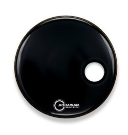 Aquarian Peau résonnante de grosse caisse Aquarian Regulator SM noire 20po