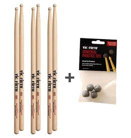 Vic Firth Trois paires be baguette SD1 avec pointes de pratique universelles gratuites!
