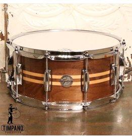 Gretsch Gretsch Walnut Snare Drum (with maple inlays) 14X6.5in
