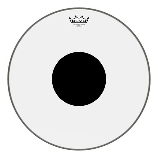 Remo Remo Black Dot Clear Drum Head 18in