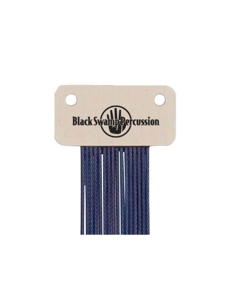 Black Swamp Percussion Black Swamp Blue Coated Stainless Wrap-around Snares