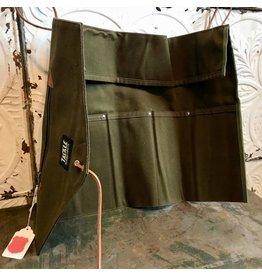 Tackle Instrument Supply Co. Étui de baguettes Tackle en toile cirée vert forêt, roll-up