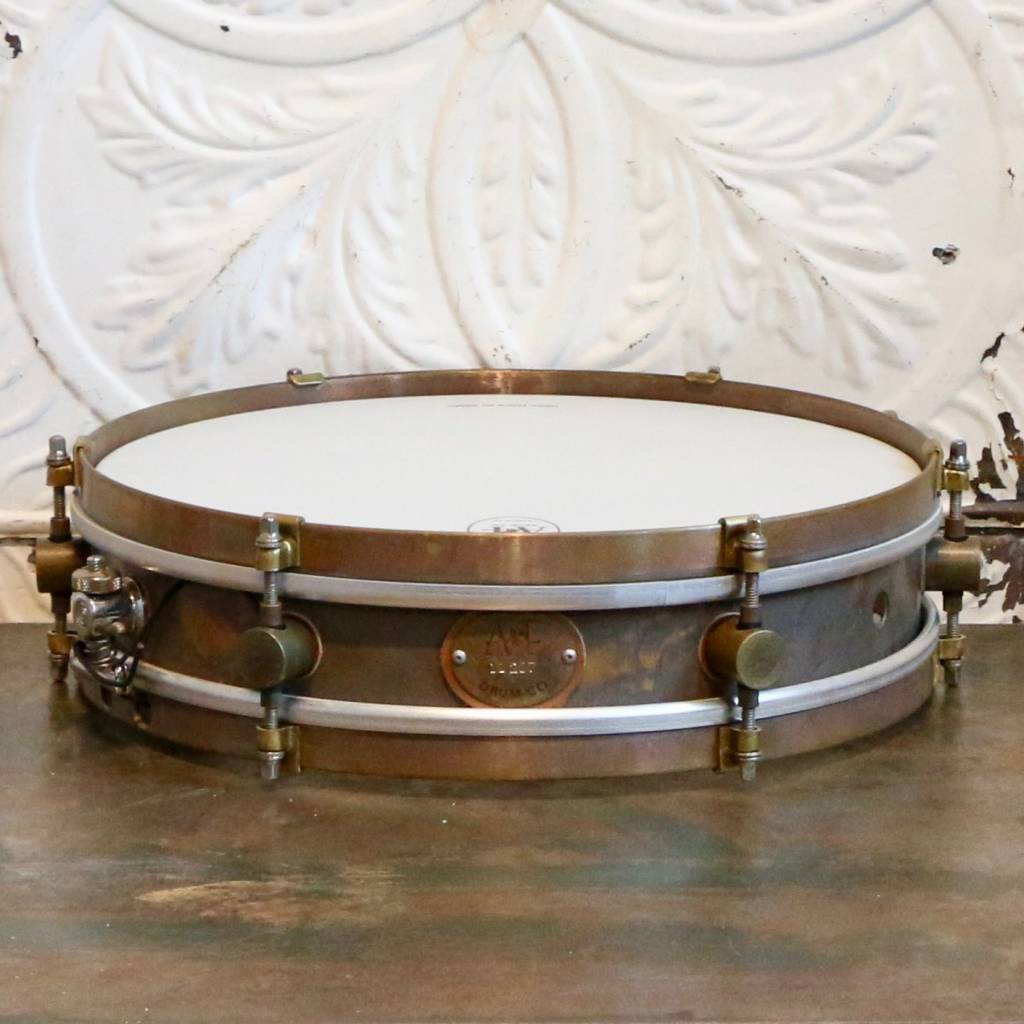 A&F Drum Co A&F Rude Boy Raw Brass Snare Drum 13X3in + internal snare