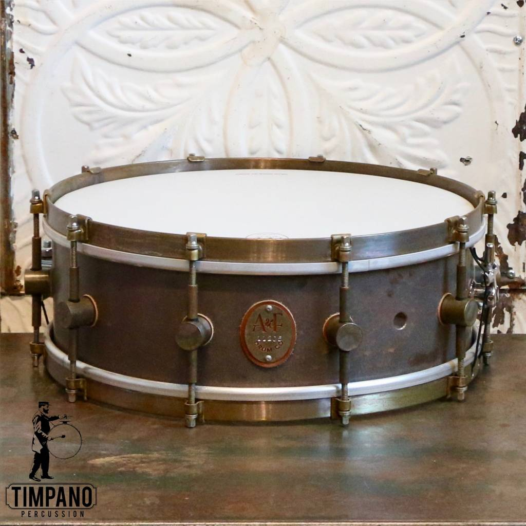 A&F Drum Co A&F Raw Copper Snare Drum 14X5in