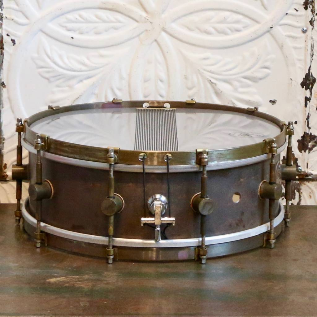 A&F Drum Co A&F Raw Copper Snare Drum 14X5in