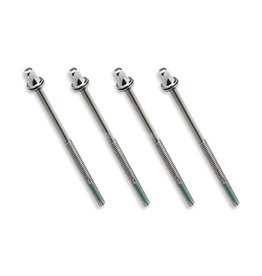 "Tight Screw Tight Screw Tension Rods 3-1/2"" 90mm (pack of 4)"