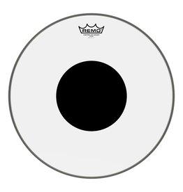 Remo Peau Remo Controlled Sound Clear Top Black Dot 16po