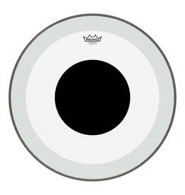 Remo Peau de grosse caisse Remo Powerstroke 3 Clear Black Dot 22po