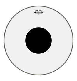 Remo Peau Remo Controlled Sound Clear Top Black Dot 18po