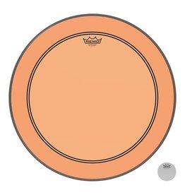 Remo Peau Powerstroke P3 Colortone Orange Bass 20po 5po Offset Hole