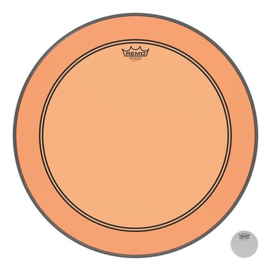 Remo Peau Powerstroke P3 Colortone Orange Bass 24po 5po Offset Hole