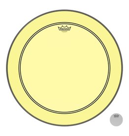 Remo Powerstroke P3 Colortone Yellow Bass Head  22in 5in Offset Hole