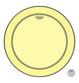 Remo Peau Powerstroke P3 Colortone Jaune Bass 24po