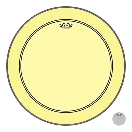 Remo Peau Powerstroke P3 Colortone Yellow Bass Head 26in