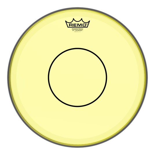Remo Powerstroke 77 Colortone Yellow Head 14in