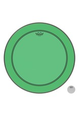 Remo Powerstroke P3 Colortone Green Bass Head 24in 5in Offset Hole