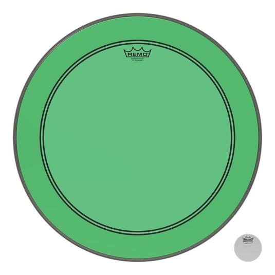 Remo Powerstroke P3 Colortone Green Bass Head 26in
